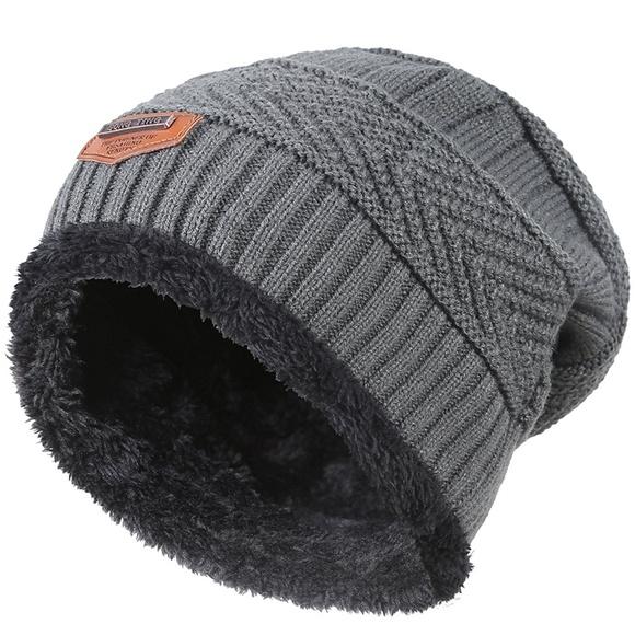 ae588c2c06a Winter Knitting Skull Cap Wool Slouchy Beanie Hat